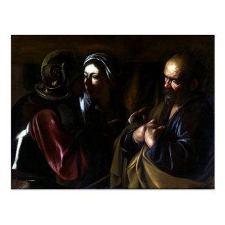 Caravaggio The Denial of Saint Peter Postcard