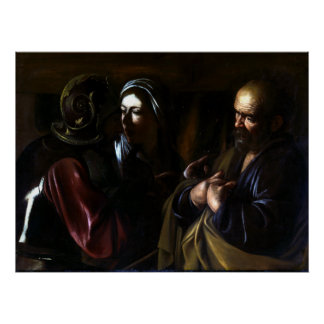 Caravaggio The Denial of Saint Peter Poster