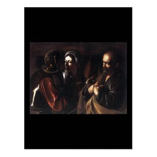 Caravaggio The Denial Of St Peter Postcard