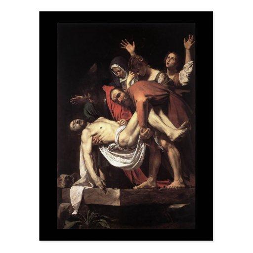 Caravaggio The Entombment Post Card