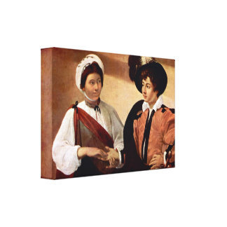 Caravaggio - The fortune teller Stretched Canvas Prints