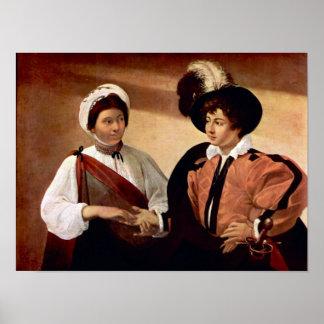 Caravaggio-The fortune teller Poster