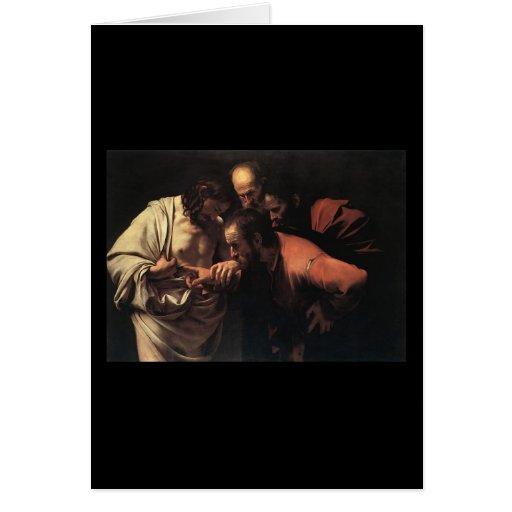 Caravaggio The Incredulity Of Saint Thomas Card