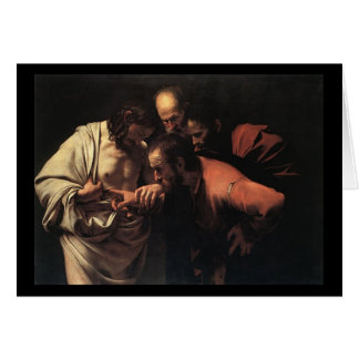 Caravaggio The Incredulity Of Saint Thomas Card