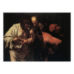 Caravaggio The Incredulity Of Saint Thomas Poster
