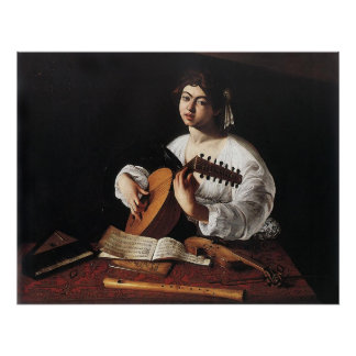 Caravaggio The Lute Player Poster