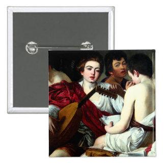 Caravaggio The Musicians Button