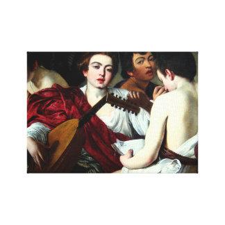 Caravaggio The Musicians Canvas Print