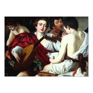 Caravaggio The Musicians Invitations