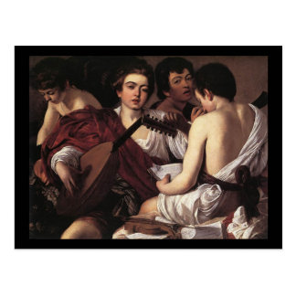 Caravaggio The Musicians Postcard