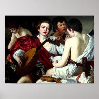 Caravaggio The Musicians Poster