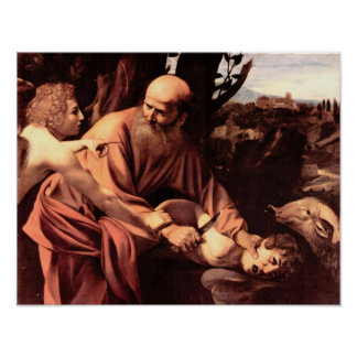 Caravaggio-The sacrifice of Isaac's Poster