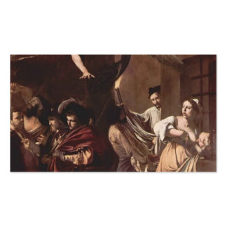 Caravaggio- The Seven Works of Mercy Double-Sided Standard Business Cards (Pack Of 100)