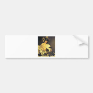 Caravaggio The Young Bacchus Bumper Stickers