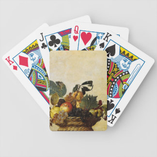 Caravaggio's Basket of Fruit Bicycle Playing Cards