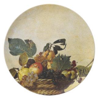 Caravaggio's Basket of Fruit Dinner Plates