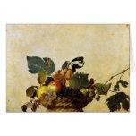Caravaggio's Basket of Fruit Greeting Card