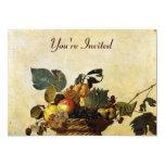 Caravaggio's Basket of Fruit 5x7 Paper Invitation Card