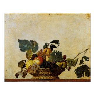 Caravaggio's Basket of Fruit Poster