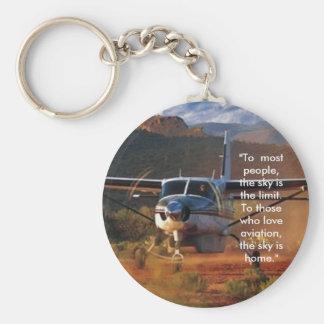 Caravan Basic Round Button Keychain