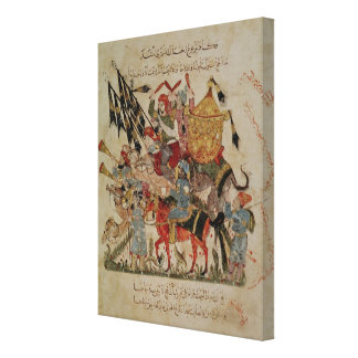 Caravan going to Mecca Canvas Print
