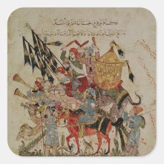 Caravan going to Mecca Square Sticker