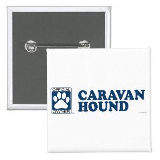 Caravan Hound Blue 2 Inch Square Button