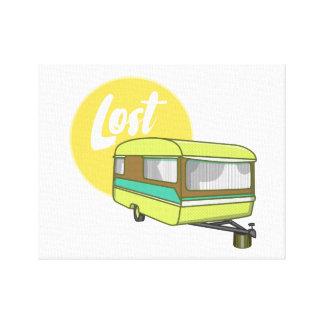 Caravan Lost Rerto Sixties Style Canvas Print