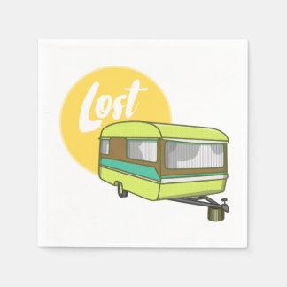 Caravan Lost Retro Seventies Style Napkin