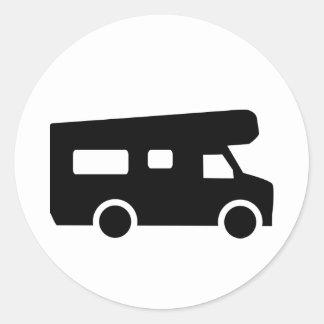 Caravan - Motorhome Classic Round Sticker