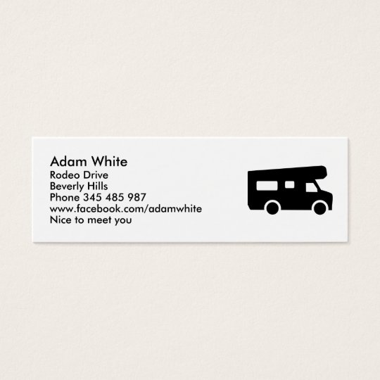 Caravan - Motorhome Mini Business Card
