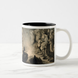 Caravan of Armenian Merchants, Transcaucasia, plat Two-Tone Coffee Mug
