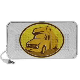 Caravana de la autocaravana retra mp3 altavoces