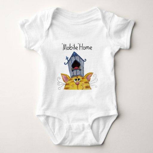 Caravana de la casa del gato y del pájaro camisetas