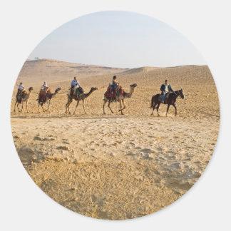 caravana del camello etiquetas redondas