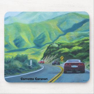 Caravana del Corvette, caravana del Corvette Alfombrillas De Ratones