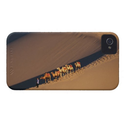 Caravana en el desierto, Dunhuang, Gansu del iPhone 4 Cobertura