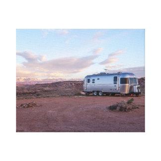 Caravana en el desierto impresión en lienzo