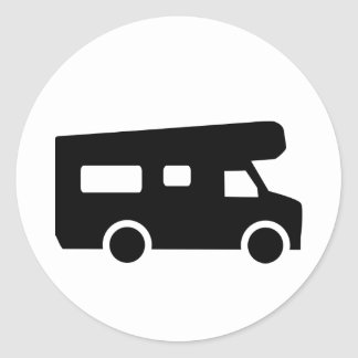 Caravana - Motorhome Pegatina Redonda