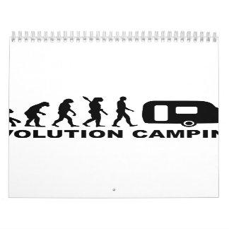 Caravana que acampa de la evolución