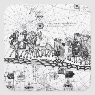 Caravans Crossing The Urals on the way to Square Sticker