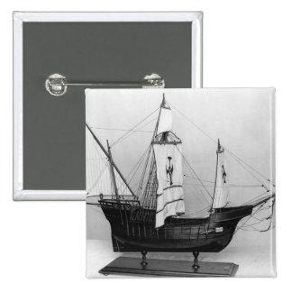 Caravel de Cristóbal Colón Pin Cuadrada 5 Cm