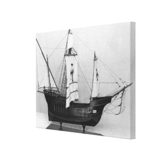 Caravel of Christopher Columbus Canvas Print
