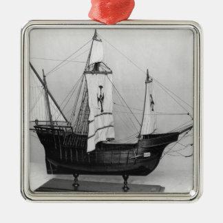 Caravel of Christopher Columbus Metal Ornament