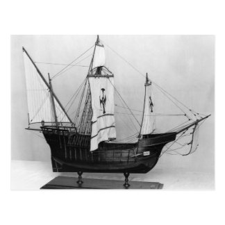 Caravel of Christopher Columbus Postcard