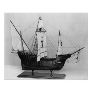 Caravel of Christopher Columbus Poster