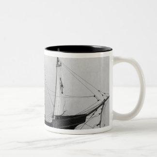 Caravel of Christopher Columbus Two-Tone Coffee Mug