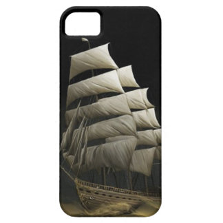 Caravel ship boat sail desert night storm case iPhone 5 case