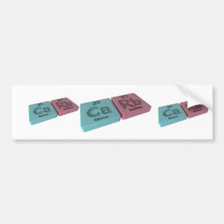 Carb as Ca Calcium and Rb Rubidium Bumper Sticker