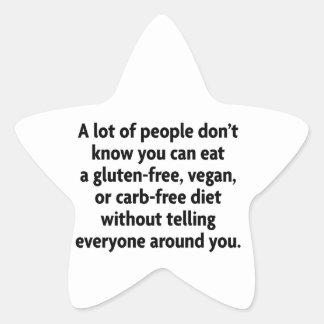 carb-free star sticker